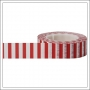 Little B Paper Tape Roll 15 mm Red Side Stripe