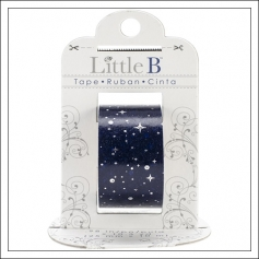Little B Paper Tape Roll 25 mm Silver Starry Night