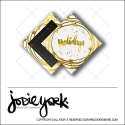 Scrapbook and More 1 inch Diamond Flair Badge Button Christmas White Gold Foil Holidays by Jodie York Polka Dot Creative