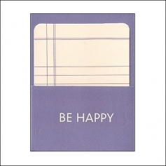 Pebbles Library Pocket and Card Be Happy Basics Collection
