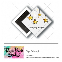 Scrapbook and More 1 inch Diamond Flair Badge Button Christmas Simply Magic by Olya Schmidt
