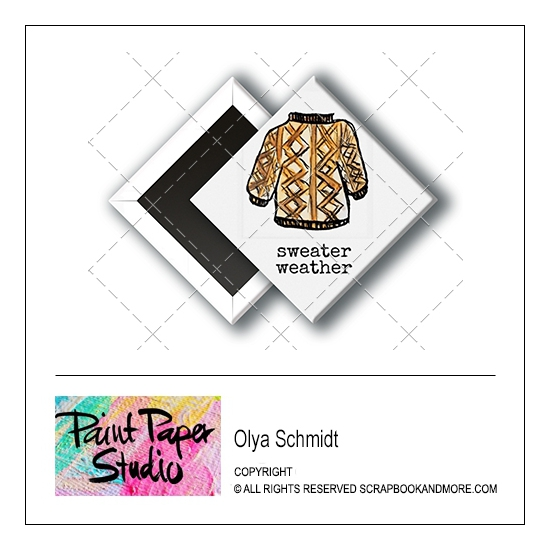 Scrapbook and More 1 inch Diamond Flair Badge Button Christmas Sweater Weather by Olya Schmidt