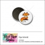 Scrapbook and More 1 inch Round Flair Badge Button Fox by Olya Schmidt