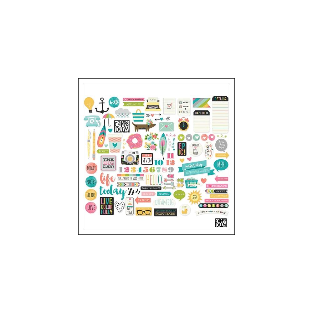 Simple Stories Ephemera Bits and Pieces Carpe Diem Planner Collection