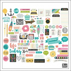 Simple Stories Ephemera Bits and Pieces Carpe Diem Planner Collection