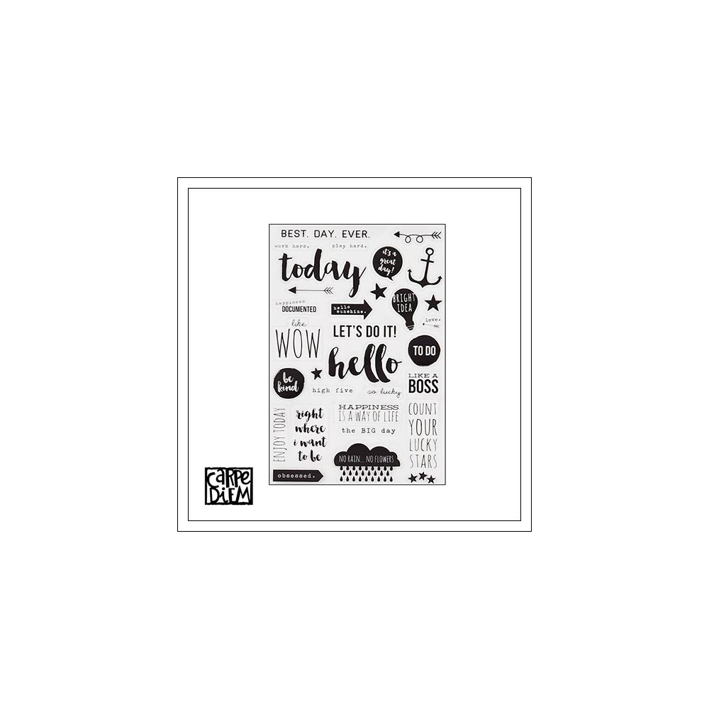 Simple Stories Clear Black Stickers Carpe Diem Planner Collection