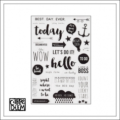 Simple Stories Clear Black Stickers Carpe Diem Planner Collection