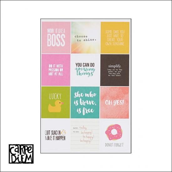 Simple Stories Insta Quote Stickers Carpe Diem Planner Collection