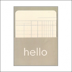 Pebbles Library Pocket and Card Hello Brown Basics Collection