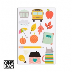 Simple Stories Illustrated Life Stickers Carpe Diem Planner Collection