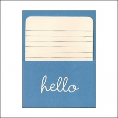 Pebbles Library Pocket and Card Hello Blue Basics Collection