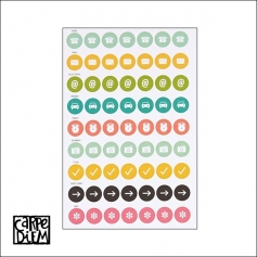 Simple Stories Calendar Stickers Carpe Diem Planner Collection