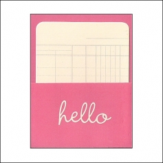 Pebbles Library Pocket and Card Hello Pink Basics Collection