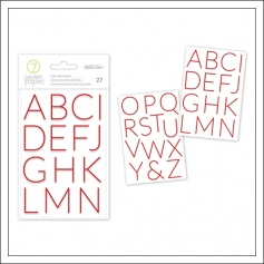 Studio Calico Red Puffy Alphabet Stickers Seven Paper Felix Collection