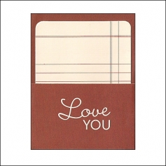 Pebbles Library Pocket and Card Love You Basics Collection
