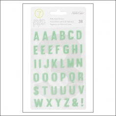 Studio Calico Puffy Alphabet Stickers Seven Paper Elliot Collection