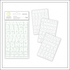 Studio Calico Puffy Alphabet Stickers White Seven Paper Clara Collection