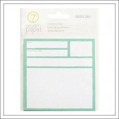 Studio Calico Cardstock Journaling Cards 4 x 4 inches Seven Paper Elliot Collection