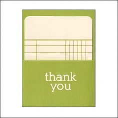 Pebbles Library Pocket and Card Thank You Basics Collection