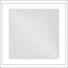 Studio Calico Specialty Paper Transparency Sheet Silver Foil Diagonal Stripes Seven Paper Goldie Collection
