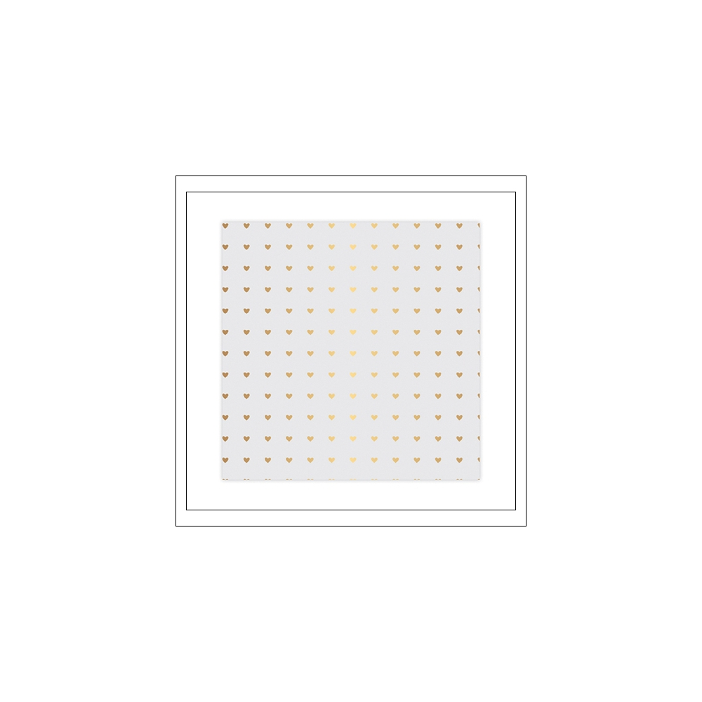 Studio Calico Specialty Paper Vellum Sheet Gold Foil Hearts Seven Paper Goldie Collection