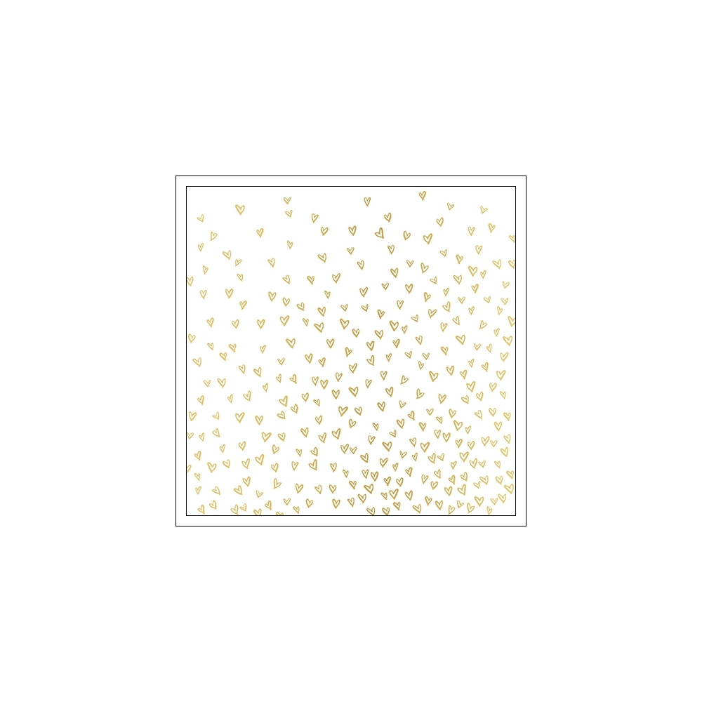 Crate Paper Specialty Paper Vellum Sheet Gold Foil Hearts Dearest Hello Love Collection
