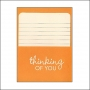 Pebbles Library Pocket and Card Thinking of You Basics Collection