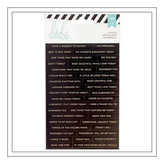 Heidi Swapp Gold Foil Word Jumble Sticker Sheets Hello Gorgeous 2016 Memory Planner Collection