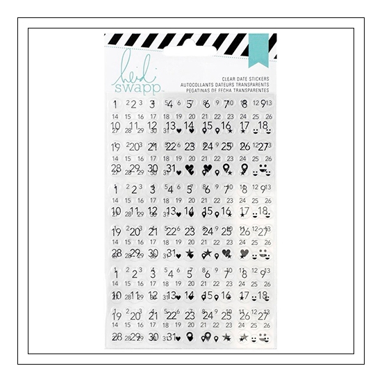 Heidi Swapp Clear Date Sticker Sheets Hello Gorgeous 2016 Memory Planner Collection