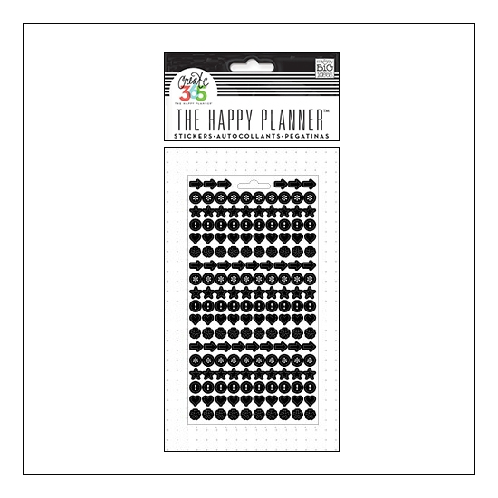 Me and My Big Sticker Sheet Black Dots The Happy Planner Collection