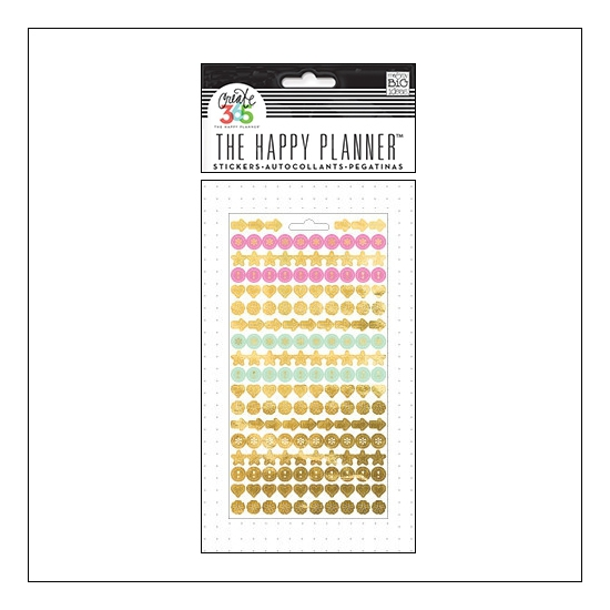 Me and My Big Sticker Sheet Gold Foil Colorful Dots The Happy Planner Collection