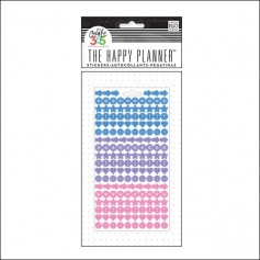 Me and My Big Sticker Sheet Blue, Purple and Pink Colorful Dots The Happy Planner Collection