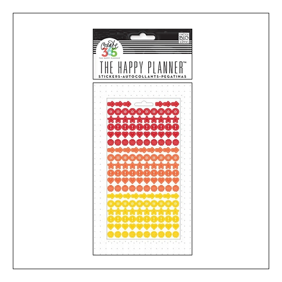 Me and My Big Sticker Sheet Red, Orange and Yellow Colorful Dots The Happy Planner Collection