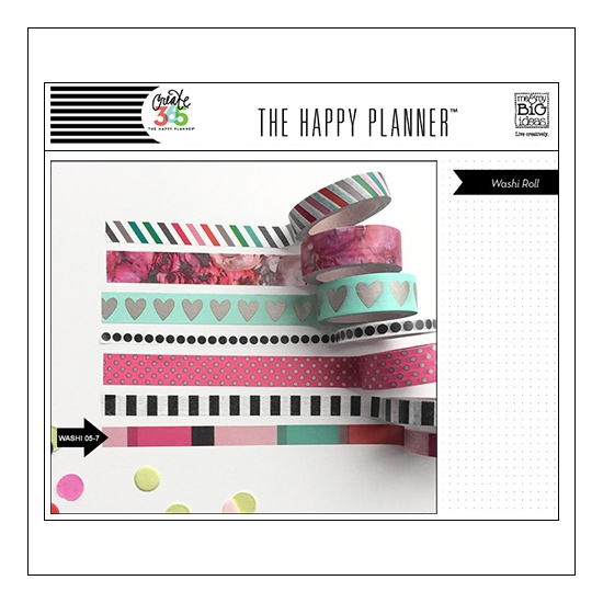 Me and My Big Washi Tape Roll Colored Blocks Peony The Happy Planner Collection