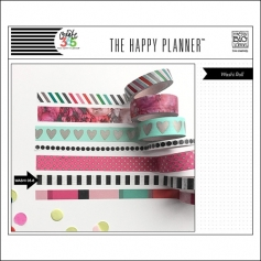 Me and My Big Washi Tape Roll Black and White Stripes Peony The Happy Planner Collection