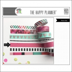 Me and My Big Washi Tape Roll Pink Gold Dots Peony The Happy Planner Collection