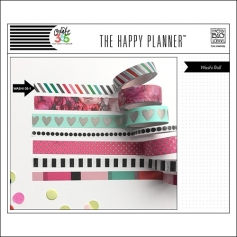 Me and My Big Washi Tape Roll Diagonal Stripes Peony The Happy Planner Collection