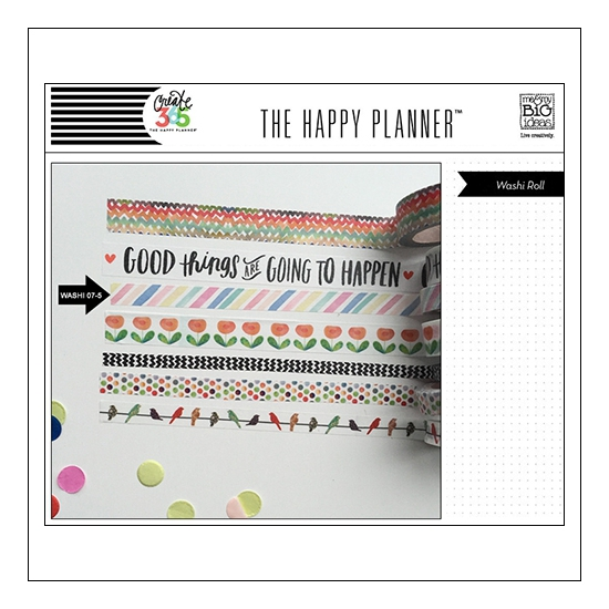 Me and My Big Washi Tape Roll Diagonal Stripes Good Things Are Going To Happen The Happy Planner Collection