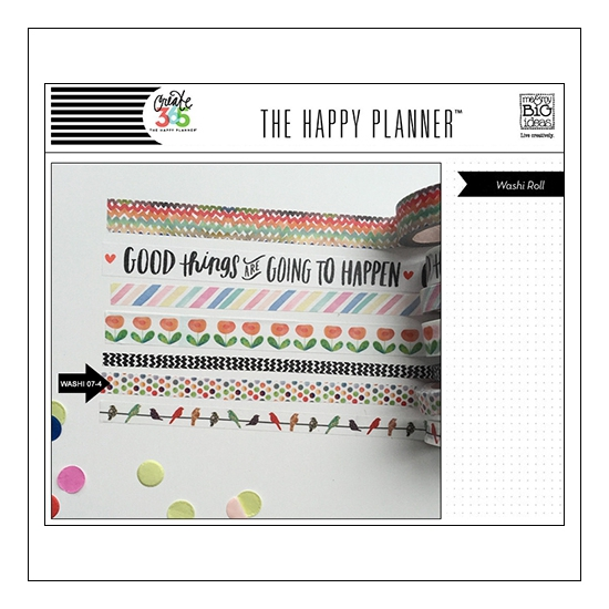 Me and My Big Washi Tape Roll Dots Good Things Are Going To Happen The Happy Planner Collection