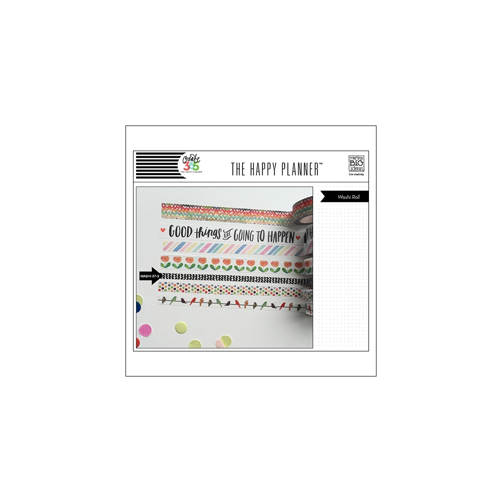 Me and My Big Washi Tape Roll Black Zig Zag Good Things Are Going To Happen The Happy Planner Collection