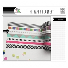 Me and My Big Washi Tape Roll White Gold Stars My Life The Happy Planner Collection
