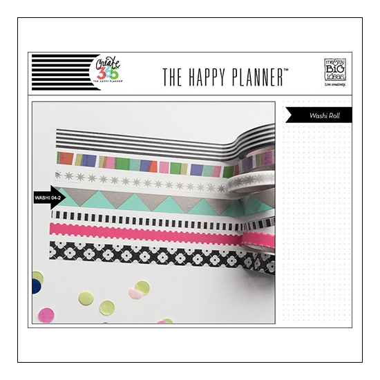 Me and My Big Washi Tape Roll Mint Gold Triangles My Life The Happy Planner Collection