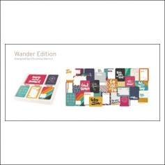 American Crafts Project Life 3x4 inches Core Kit Cards Set Wander Edition Collection by Christine Herrin