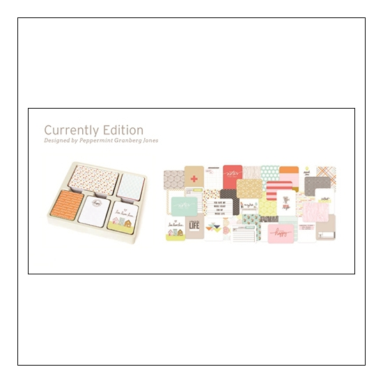 American Crafts Project Life 3x4 inches Core Kit Cards Set Currently Edition Collection by Peppermint Granberg Jones