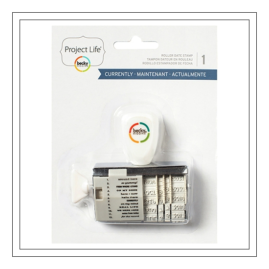 American Crafts Project Life Rotary Roller Phrase Stamp Currently Edition by Peppermint Granberg Jones