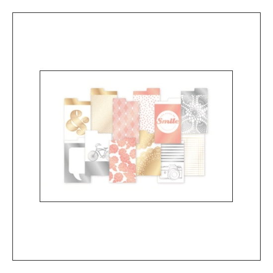 American Crafts Project Life Dividers Instax Mini Golden Edition