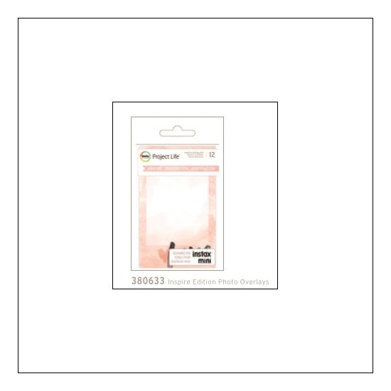 American Crafts Project Life Photo Overlays Instax Mini Inspire Edition
