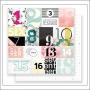 Pink Paislee Cardstock Paper Sheet Paper 007 C'est La Vie Collection