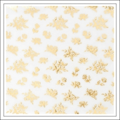 Crate Paper Specialty Paper Vellum Sheet Gold Foil Flowers Bloom Collection by Maggie Holmes