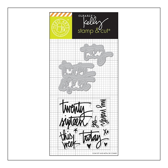 Hero Arts Kellys Twenty Sixteen Stamp and Cut Clearly Kelly Collection by Kelly Purkey